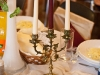 Świeczniki na stołach  - Sala Mega Tomaszów Mazowiecki